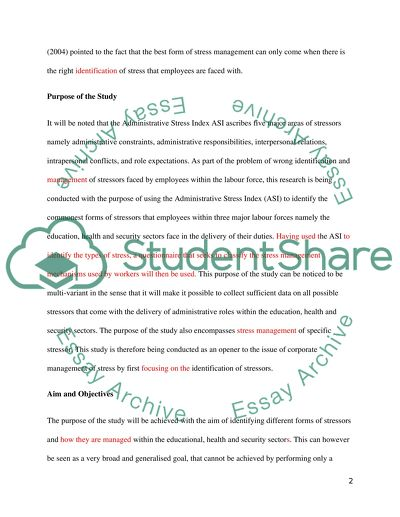 Examples Of A Proposal Essay  Proposal Essay Format also Business Essay Writing Service Stress Management And Its Effect On Efficient Work  What Is A Thesis In An Essay