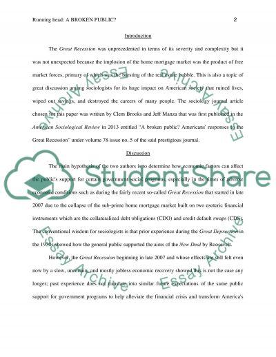 Sociological journal assignment