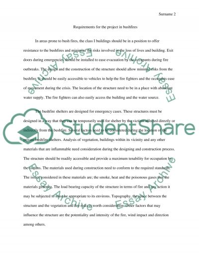 BCA Compliance for a Typical Location Requirements essay example