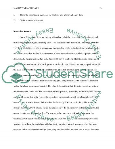 Mock Essay on Narrative Research(Qualitative) essay example