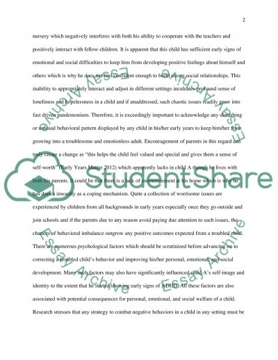 Personal social and emotional development of children(early years) essay example