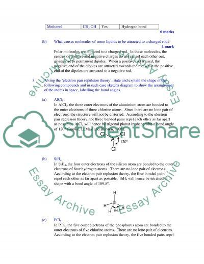 Chemistry Practice - Bonding energy kinetics essay example