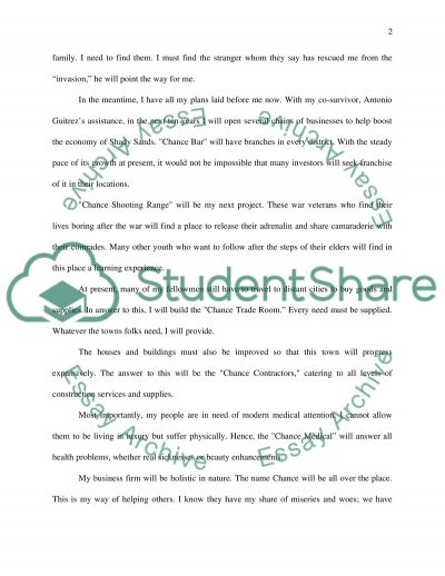 Fiction Story Writing essay example