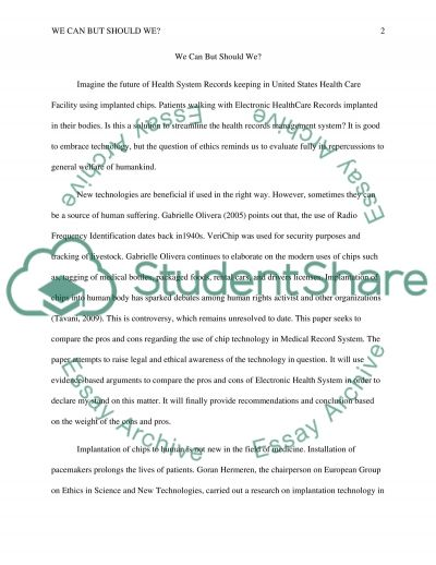 Application of Information Technology in Health Care essay example