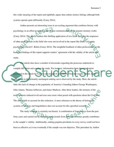 Article Abstract Critique Essay Example Topics And Well Written