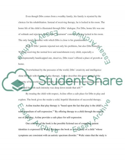Play T herapy for Disabled Children essay example