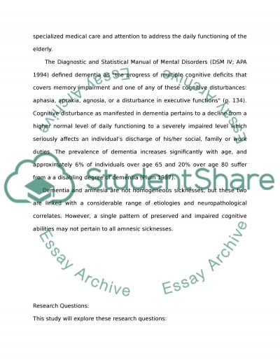 Memory Deficits and Aging essay example