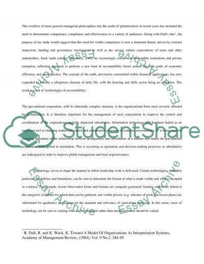Organization Theory and Design essay example