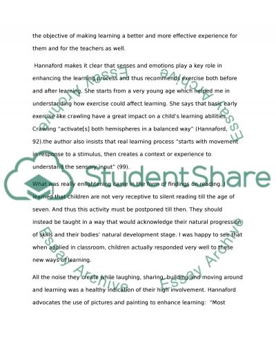 Relection Paper essay example