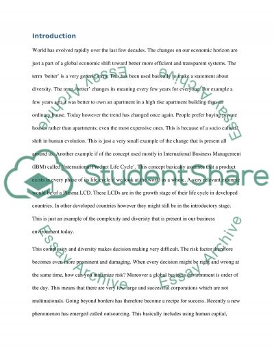Integrated risk management (financial risk management) essay example