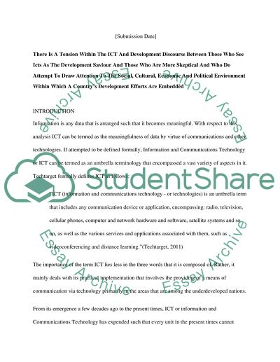 Ict Development Essay Example  Topics And Well Written Essays  Read Textpreview Subject Technology Type Essay  Essay Writing Examples English also Writing High School Essays  Where Can You Get Help Putting Together A Business Plan