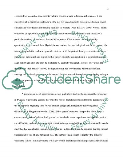 Research Methods in Health Science A Essay example