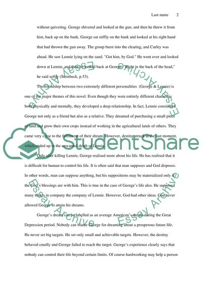 Of Mice And Men Essay Example  Topics And Well Written Essays    Of Mice And Men Best Writing Service Websites also Romeo And Juliet English Essay  The Newspaper Essay