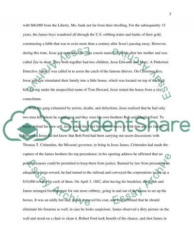 Jesse James essay example