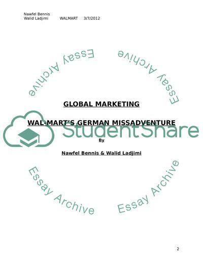 Wal-Marts German Misadventure - case study