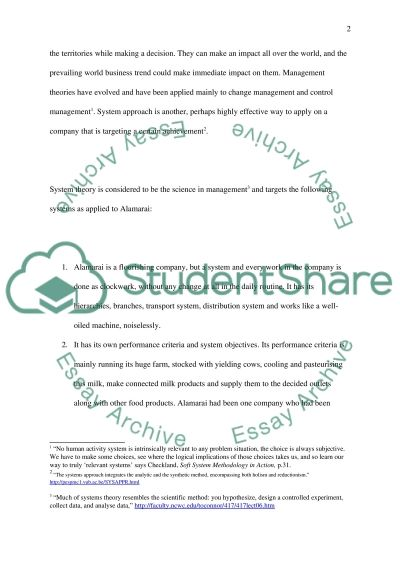 Management Decision Making A System Approach essay example