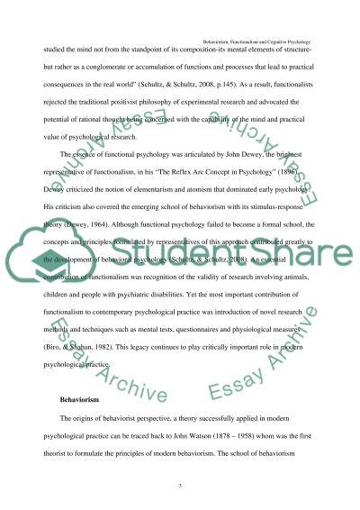 Human Psychology essay example