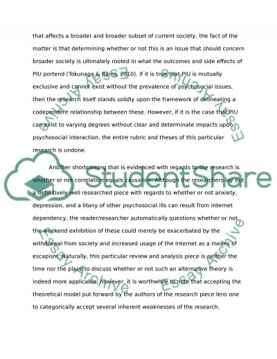 Problematic Media Use essay example