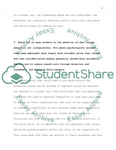 Human Resource Management essay example