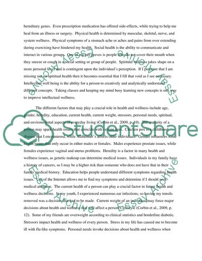 Health And Wellness Essay Example  Topics And Well Written Essays  Health And Wellness