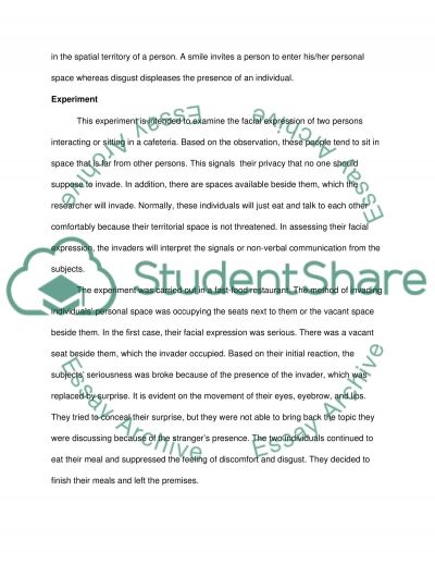 experiment on the non verbal communication and personal space essay experiment on the non verbal communication and personal space essay example