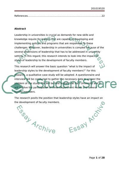 Faculty Members Styles Of Leadership