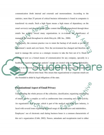 Privacy in Cyber Space essay example