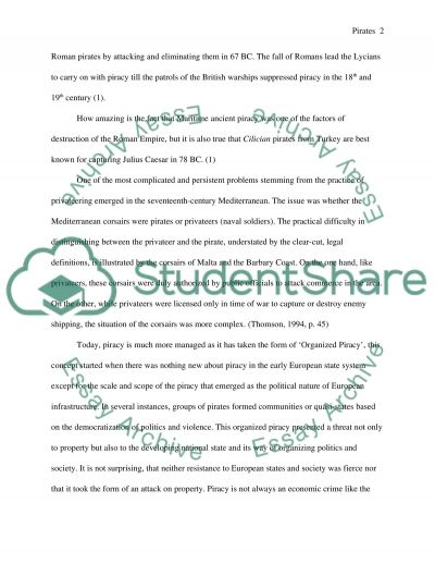 Pirates: The History, Origins, and Current Status of Pirates around the world essay example
