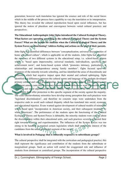 Sociology College Essay