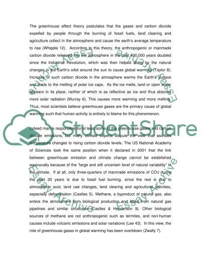 Global Warming Master Essay essay example