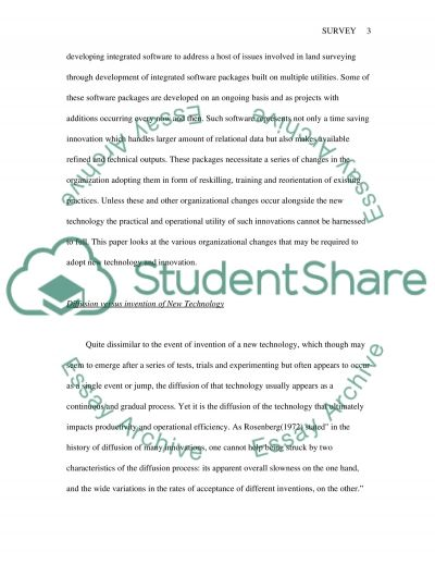New Technology and Innovation Essay example