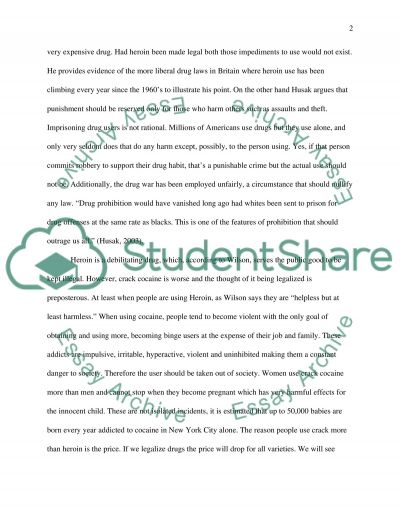 Legalization of Drugs essay example