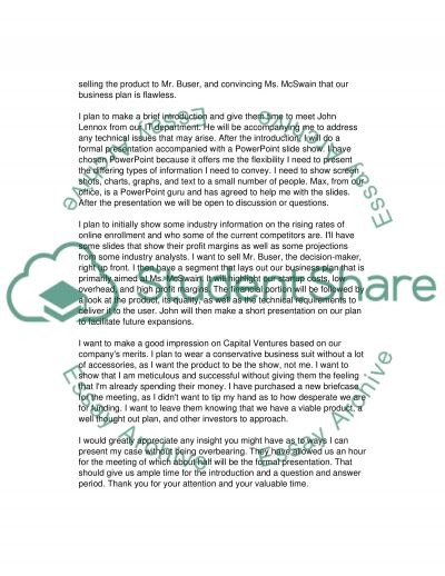 Loan Request for StartUp Company essay example