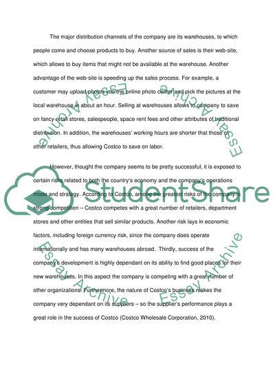 Costco essay example