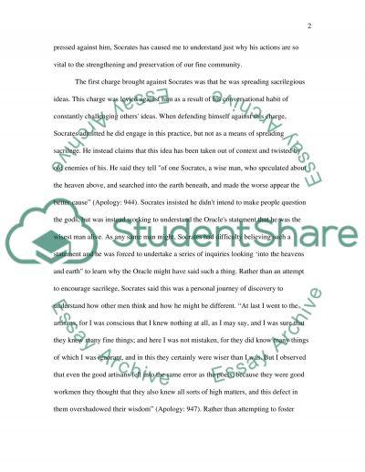 Socrates Apology Essay essay example