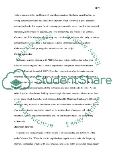 Essay On English Teacher Case Study Project Develop Individualized Education Program Iep  Components Based On The Selected Essay Proposal Outline also Sample Of Synthesis Essay Case Study Project Develop Individualized Education Program Iep Essay Write My Essay Paper