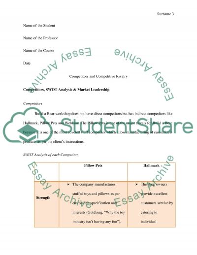 Competitors and Competitive Rivalry essay example