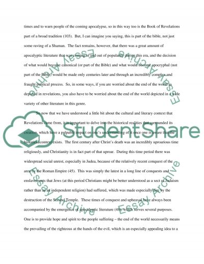 A Letter to Explain the Subtleties of Revelations essay example