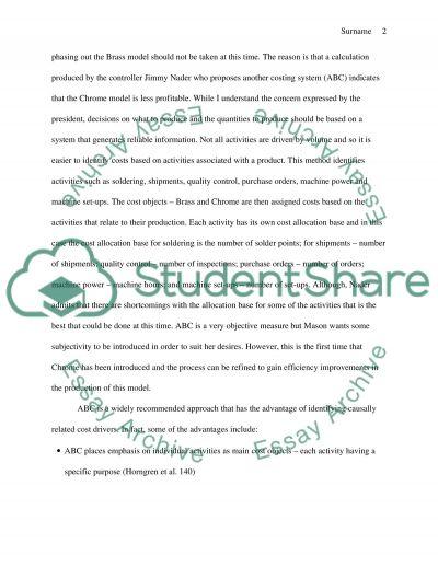 ABC at Scotty Accents Company essay example