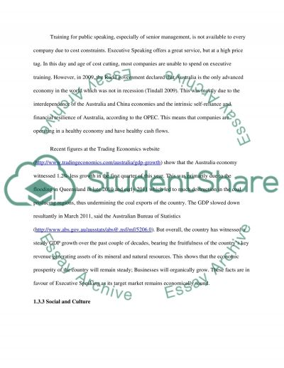 Analysis of Marketing Environment Research Paper example