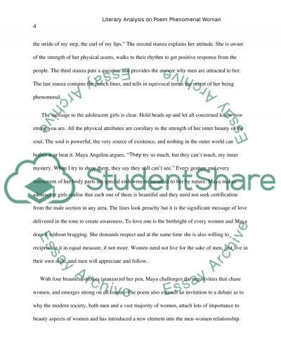 literary analysis on poem phenomenal w essay  phenomenal w essay example text preview