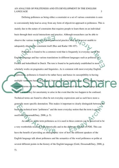 Politeness in english essay example