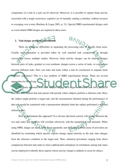 Functional Magnetic Resonance Imaging essay example