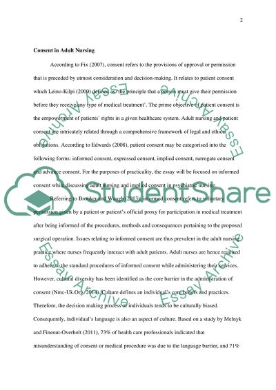 Dissertation on lack of consent to sex