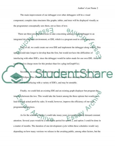 Computer Science Research Proposal essay example
