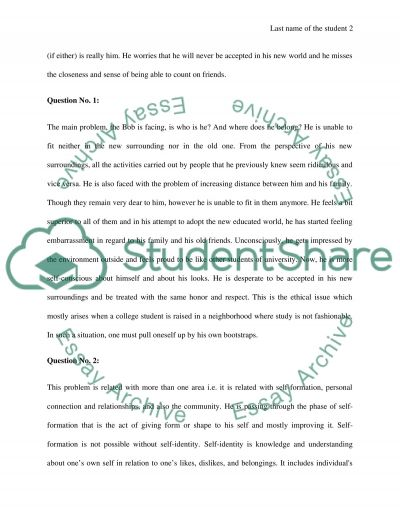 Ethics and College Student Life : a Case Study Approach Essay example