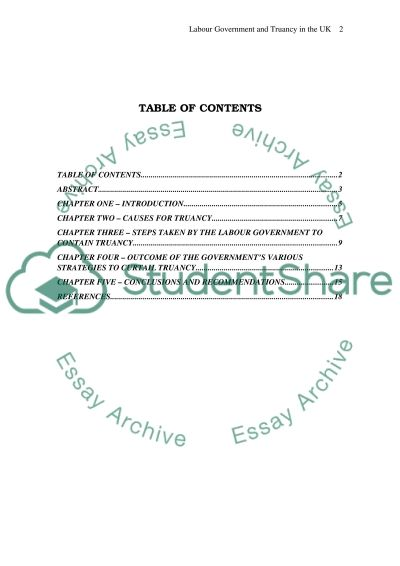 Truancy in the Schools of the United Kingdom essay example