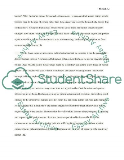 Is Radical Enhancement of the Human Species Ethically Justified essay example