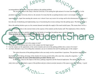 Case Study: On-Campus Parking Policies essay example