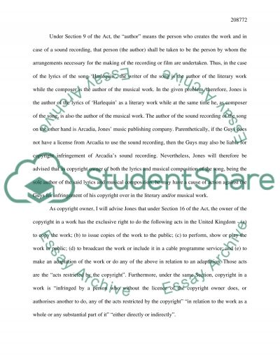 Intellectual Property Rights in Media Applications essay example